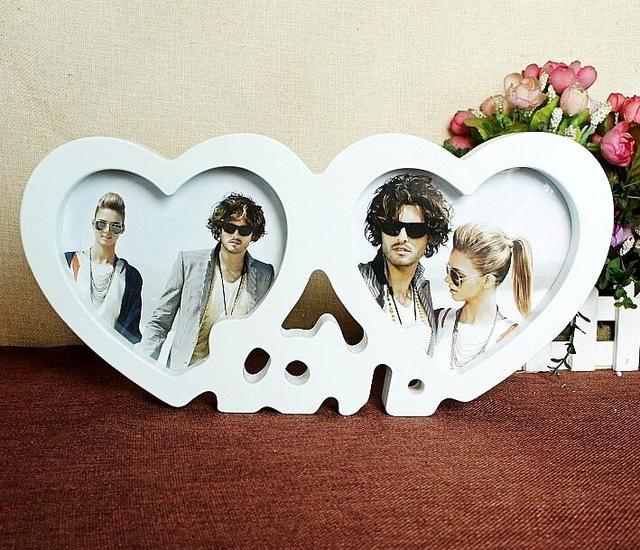 Buy Heart Shape Photoes Frame Love Couple Picture Frame Wedding ...
