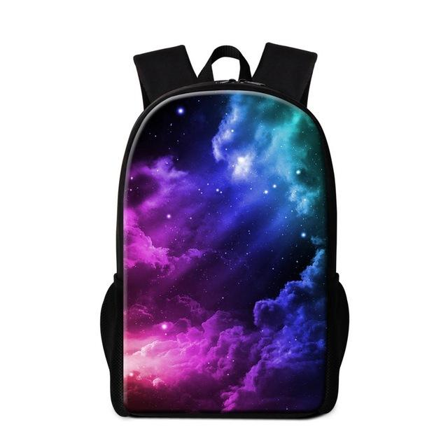 $35.95- Colorful School Bags For Teenager Girls Galaxy Design Backpacks For Children Fashion Bookbags Bagpack Backpacking Bag Mochilas