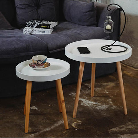 $242.37- European Style Coffee Table Side Living Room Elegant Solid Wood Furniture Set Colorful Coffee Table Simple Fashion Round Table