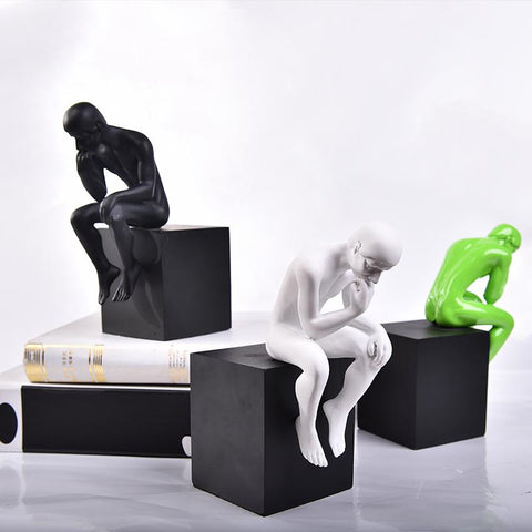 $134.30- Classic simple modern thinker figure statue home furnishings Unique Art Thinking Life Office Desktop bookend stand