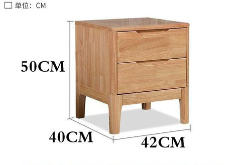 $471.01- bedroom furniture simple modern largesized apartment cabinets are wood lockers rubber wood bedside cabinets nightstand NEW