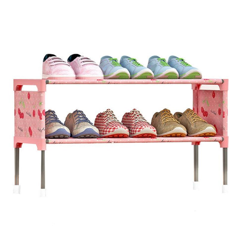 $21.58- Hot Shoe Rack Space Saving Shoe Cabinet Dust Proof Moisture Proof Shoes Organizer Living Room Furniture Shoes Holder Shelf