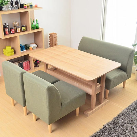 $2476.88- Cafe Furniture Sets Cafe Furniture Cafe Sofa Sets Solid Wood Cotton Fabric Minimalist Modern Three Pieces SofasOne Table Sets