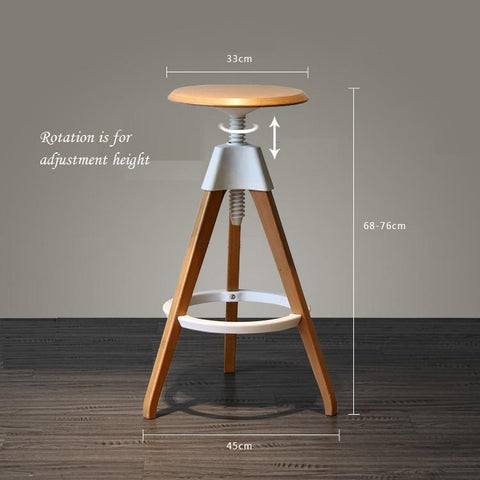 $361.15- Hotel Coffee Stool Lift Wood Bar Chair North American Popular Bar Seating