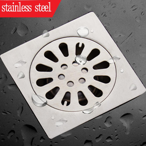 $9.50- Shower Drain Thick Stainless Steel Floor Drain Ordinary Bathroom Toilet Kitchen Balcony Dedicated To prevent odor BaIDaiMoDeng