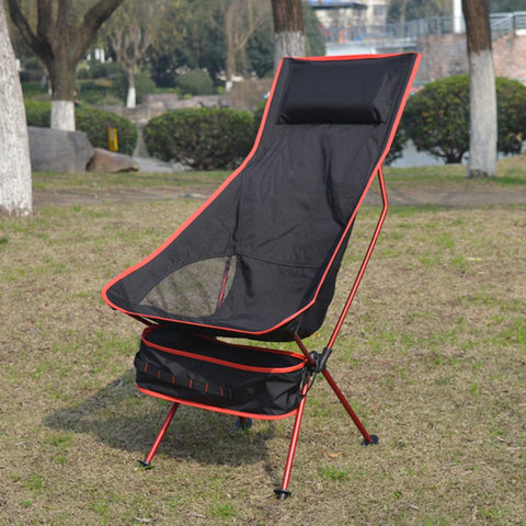 Garden Chair Outdoor Folding Beach Chair W/ Storage Bag Portable Lightweight Camping Stool For Fishing Gardening Bbq