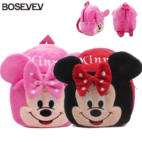 $10.58- Lovely Mickey Minnie Baby Backpack Mochila Girls' School Bags Kids Plush Backpack Mini Bags For Birthday Christmas Gift