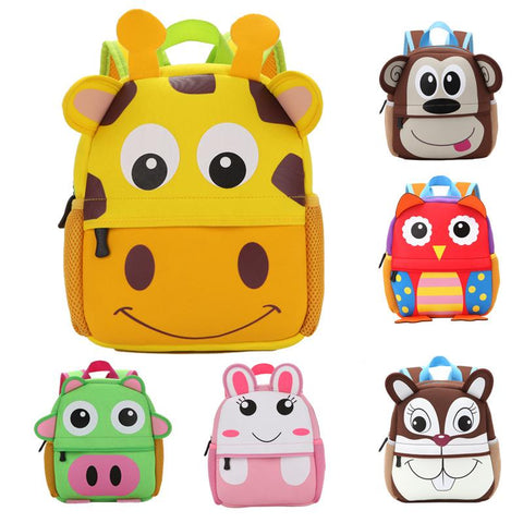 $18.72- New 3D Animal Children Backpacks Brand Design Girl Boys Backpack Toddler Kids Neoprene School Bags Kindergarten Cartoon Bag