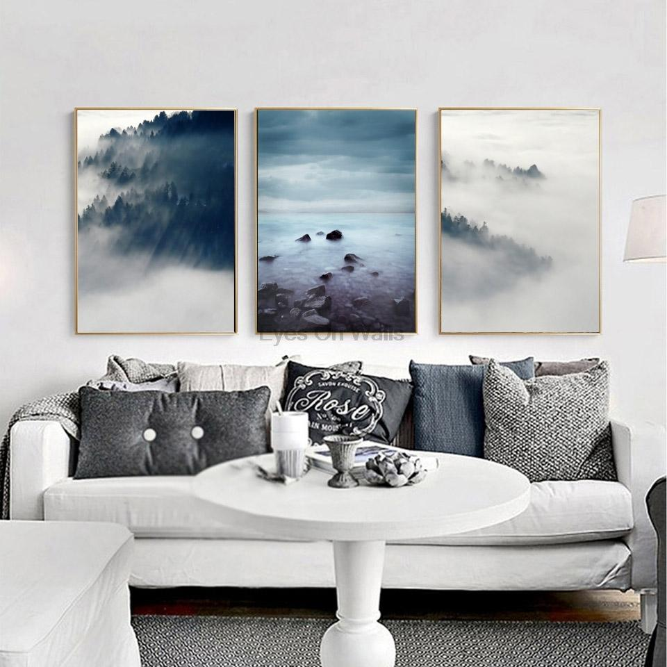 $10.38- 3 Piece No Frame Landscape Poster Scandinavian Canvas Painting For Living Room Wall Picture Print Nordic Art Home Decor