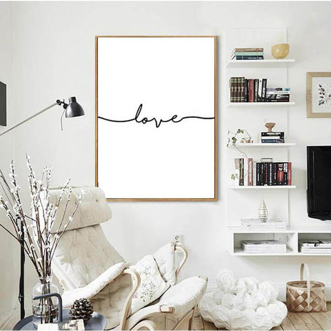 $8.08- Nordic Poster Black Letter Cuadros Decoracion Wall Art Canvas Painting Posters Prints Home Decor New Wall Pictures Unframed