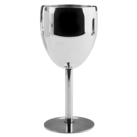 $19.19- Fashion Creative Stainless Steel Wine Glass Drinking Cup Champagne Beer Tasting Goblet Barware Kitchen Tools Party Supplies