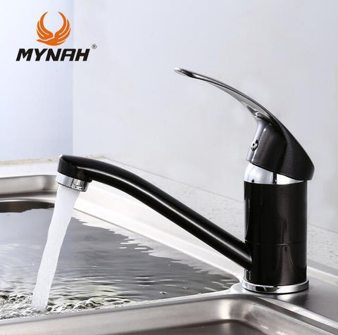 $43.83- MYNAH Russia free shipping New Arrival Kitchen faucet Kitchen Tap Single Hole Water Tap torneira cozinha Black M4503I
