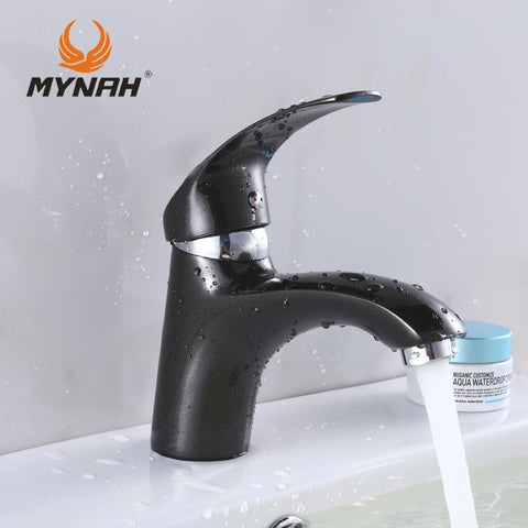 $43.40- MYNAH Russia New Arrival High Quality Black Kitchen Faucet Classic Style Basin Faucet M1003I