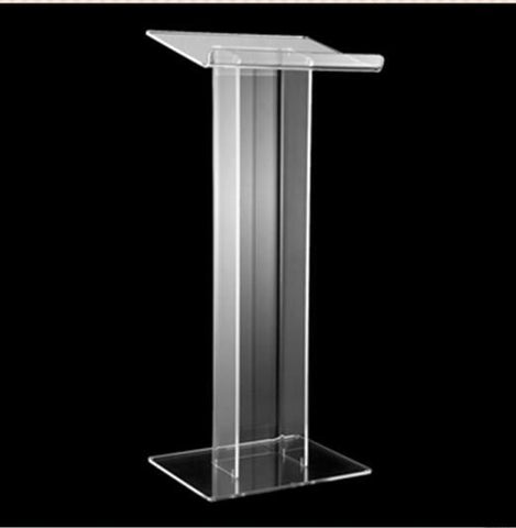 $944.00- Floor Standing Acrylic Church Lectern Clear Acrylic Church Pulpit Church Acrylic Podium Reception Desk