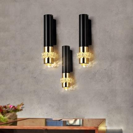$170.32- Fashion K9 Crystal Wall Sconce Modern LED Wall Light Fixtures For Home Bedroom Bedside Wall Lamps Lamparas Pared Arandela