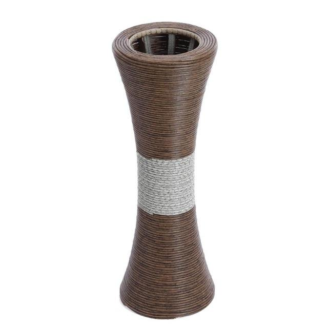 Handmade Decorative Plastic Rattan Woven Floor Dry Flower Vase Dried Floral Arrangements For HomeOfficeSpaWedding Decoration