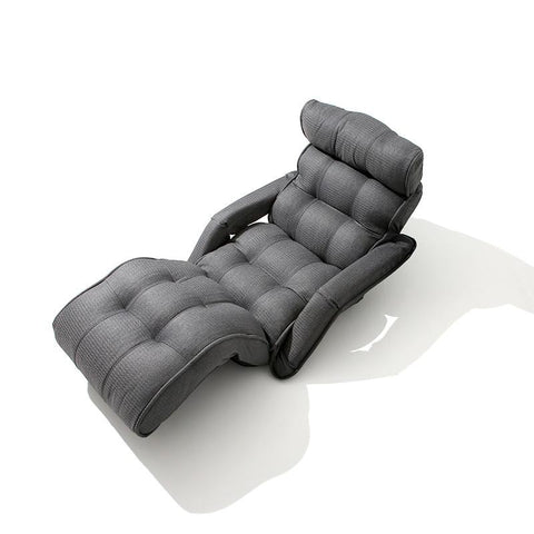 Contemporary Folding Chair Bed Japanese Style Foldable Single Sofa Grey Living Room Furniture Multifunction Mini Sofa Chair