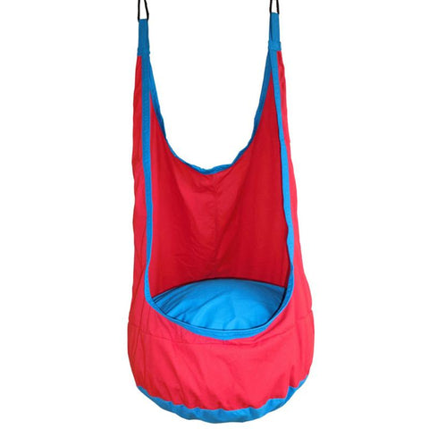 Yontree 1 Pc Red Pod Children Swing Kids Hammock Indoor Outdoor Hanging Chair H1364Y2