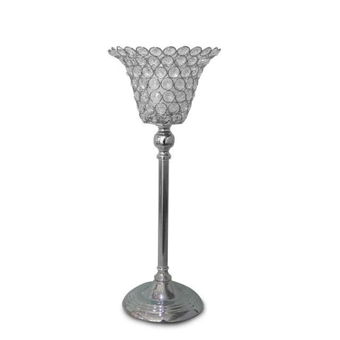 $76.14- Europe Crystal Candlestick Crystal Metal Candle Holder Wedding Home Party Candelabra Centerpiece Decoration Plated Candle Holder