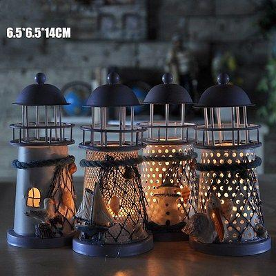 $5.42- Mediterranean Style Iron House Candlestick Vintage Candelabrum New Candle Holder