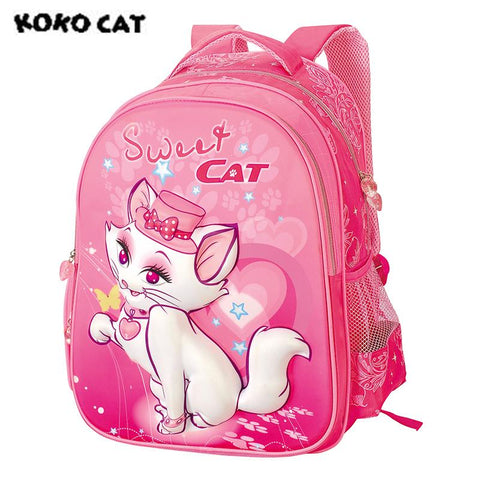 $38.30- Kokocat Cat Cute Children School Backpack Kids Bags Bookbag Female School Backpacks For Teens Girls Student Schoolbag
