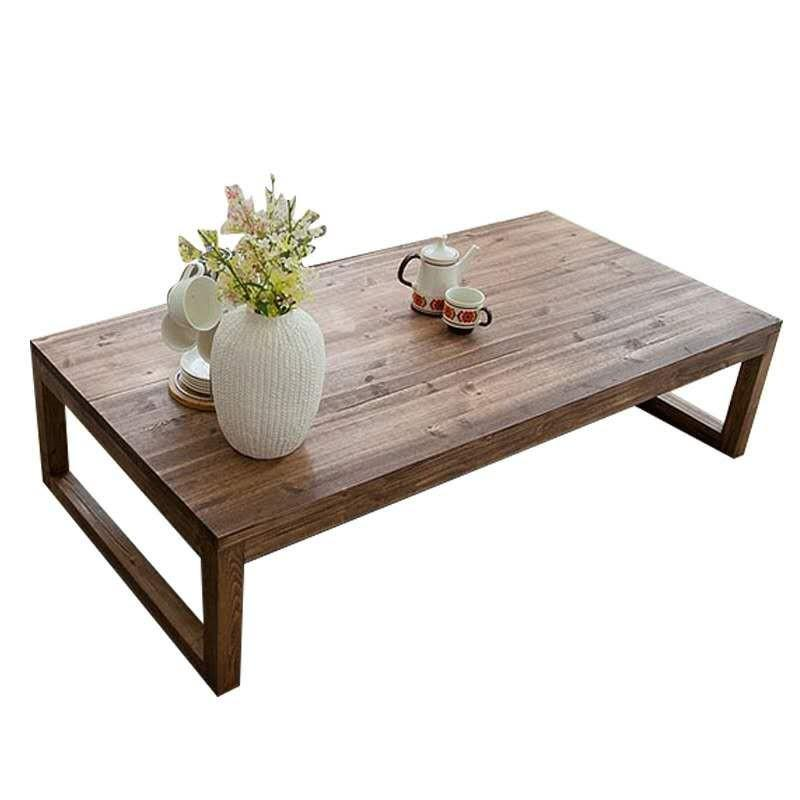 $278.85- Antique Rustic Vintage Pine Coffee Center Table Wooden Living Room Furniture Tea Table Rectangle Industrial Cocktail Table Wood