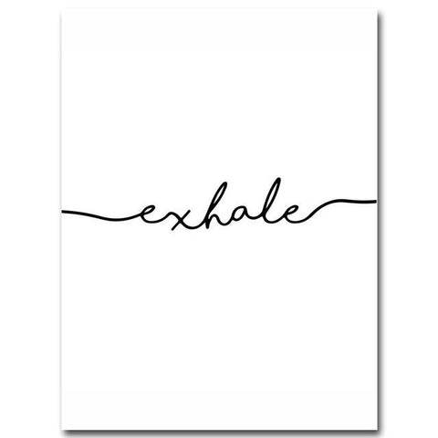 $7.37- Inhale Exhale Nordic Poster Minimalist Canvas Art Prints Wall Art Painting Decorative Picture Living Room Decoration Home Decor
