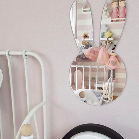 $27.77- Nordic Scandinavia Style Kawaii Nursery Decorative Mirror Venetian Bathroom Round Plexiglass Wall Mirror W/ Frame Hanging Deco