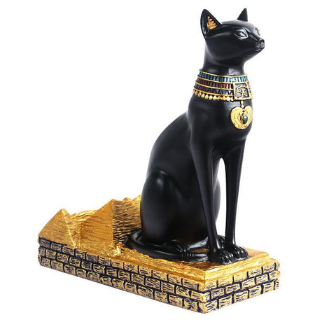 $75.79- Home Decor Handmade Plating Resin Wine Shelves Classic Egyptian Cat God Retro Style Wine Bottles Decor Display Racks