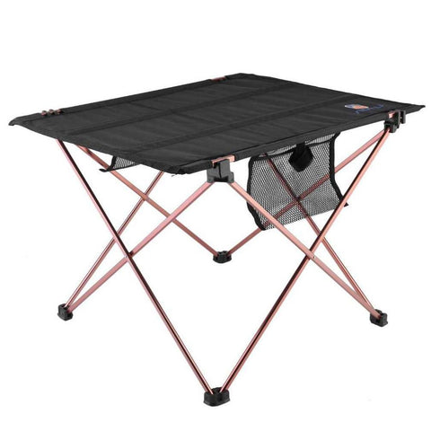 $41.38- New Outdoor Folding Table Aluminium Alloy Picnic Camping Desk Table Roll Up Durable Waterproof Lightweight W/ Carrying Bag