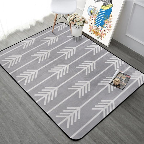 $87.77- Thicking Geometric Arrows Printed Floor Carpet Rugs Nordic Style Carpet For Living Room Bedroom Kitchen Rectangular Sofa Mats