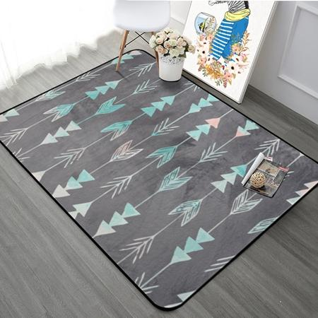 Thicking Geometric Arrows Printed Floor Carpet Rugs Nordic Style Carpet For Living Room Bedroom Kitchen Rectangular Sofa Mats