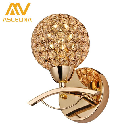 $37.62- ASCELINA Modern Crystal Wall Lamp Sconce K9 G9 Bed room Stairs Aisle chandelier wall light fixture shade Home Decor Luminaire