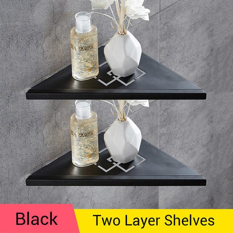 Bathroom Shelves Brushed Nickel Stainless Steel 304 Wall Bathroom Shelf Shower Caddy Rack Bathroom Accessories Shelves Wf18062