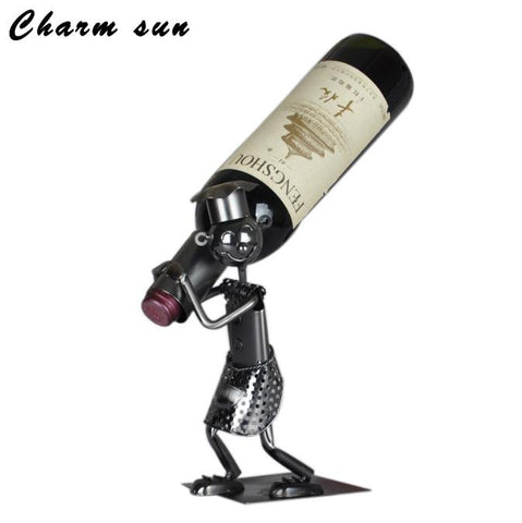 $25.72- Bar Creative Wine Rack Decoration Cup Holder Metal Crafts Iron Service Restaurant Wine Holder Hanging Cup Display Rack
