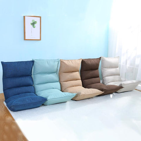 $164.90- Floor Foldable Modern Chaise Lounge 5 Colors Living Room Furniture Japanese Reclining Lounger Sofa Sleeper Daybed Zaisu Seat