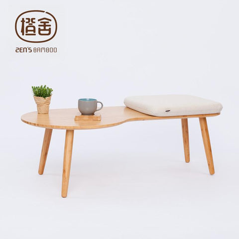 $303.80- ZEN'S BAMBOO Coffee Table Assembly Tea Table Modern Simple Design Stool Table Living Room Balcony Outdoor Tatami Home Furniture