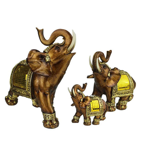 $18.61- Qglory Elephant Figurine Elephant Resin Miniature Garden Figures Lucky Elephant Statuettes Feng Shui Products Accessories
