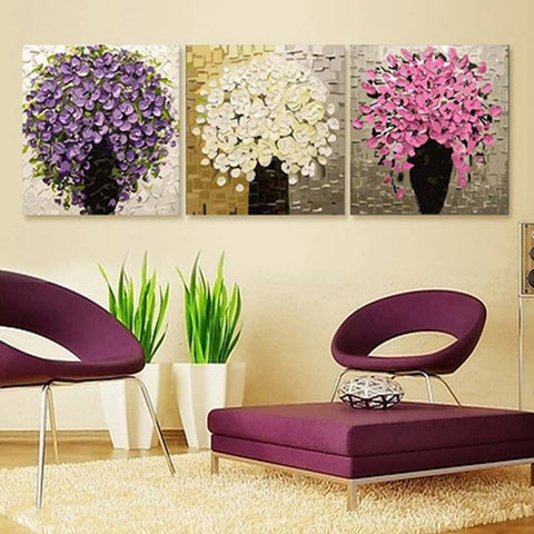 $40.32- Urijk 3Pcs/Set Paintings By Numbers On Canvas Diy Modular Pictures Wall Frameless Oil Painting Nordic Room Christmas Decoration