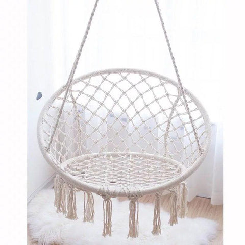 Hot Garden Swing Chair Decorative Cotton Hanging Sitting Room Decorate Balcony Basket Top Fashion Real