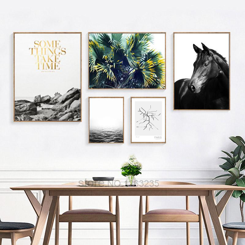 $11.15- Nordic Decoration Posters Prints Leisurely Holiday Horse Wall Art Canvas Painting Wall Pictures For Living Room Unframed