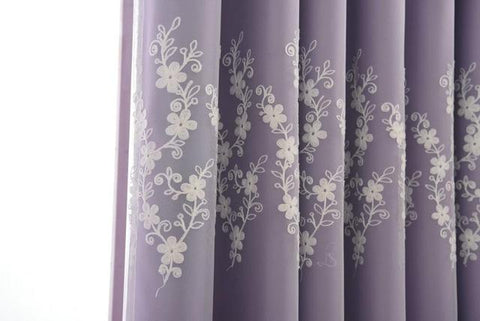 $100.76- Luxury Window Curtains For Living Room Bedroom Kitchen Floral Style Window Treatments Embroidered Lace & Blackout Curta