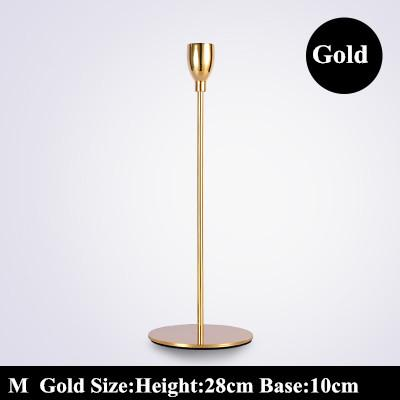 $65.41- Nordic Metal Candlestick Wedding Decoration Candelabra Centerpiece Candlestick Gold Candle Holder Luxurious Europe Candelabra