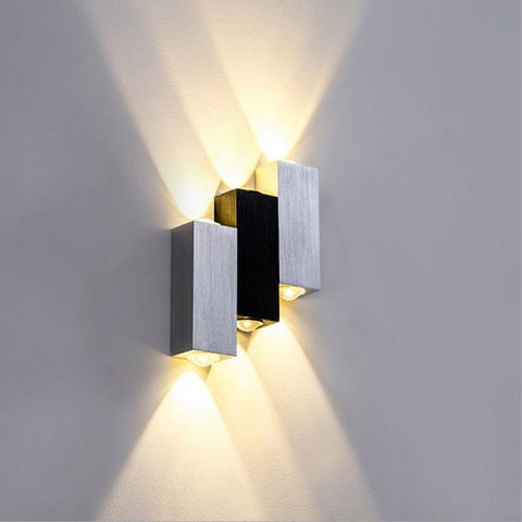 6W Ac85265V WallMounted Lamp W/ Aluminum Three Lighting Fixture Sconce Modern Wall Lamp Indoor Beauty Wall Light For House