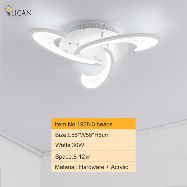 140 25 Lican Modern Led Ceiling Chandelier Lights For Living Room Bedroom Dining Study White