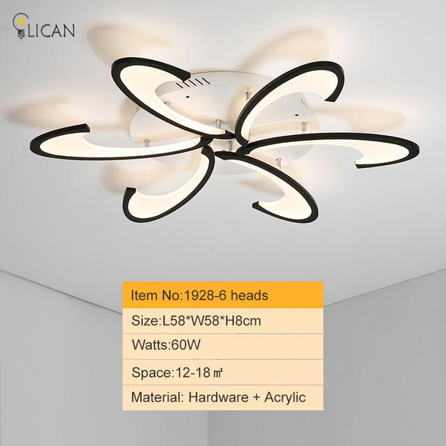 220 58 Lican Modern Led Ceiling Chandelier Lights For Living Room Bedroom Dining Study White