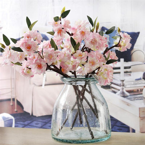 $2.89- Artificial Highend Simulation Cherry Blossoms Plant Flowers Japanesestyle Fake Wedding Home Decoration