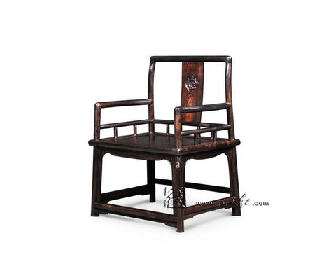 $1971.68- Southern Mandarin Chair W/ Ruyi Pattern Solid Wood Backed Armchair Office Coffee Dining Table Redwood Master Chair Rosewood
