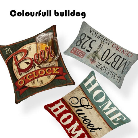 $7.61- Designs Sweet Home Shabby Chic Wood Cushion Covers Vintage Nostalgia Hanging Plate Pillow Sofa Seat 18 Inch Home Linen Almofada
