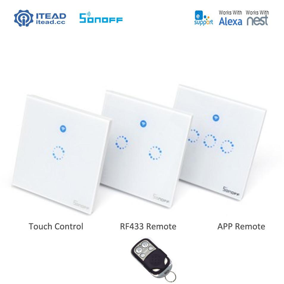 Buy Sonoff T1 Smart Wifi Rf App Touch Control Wall Light Switch 3 Gang Uk 3386 1